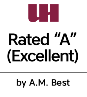 "Rated ""A"" (Excellent) by A.M. Best."
